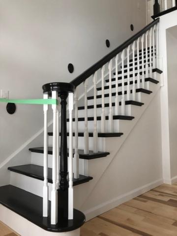 Interior + staircase in Charlotte, Vermont