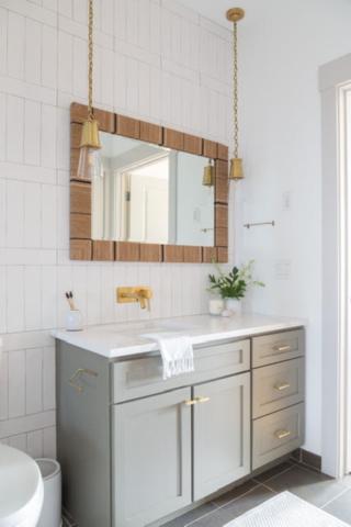professionally painted bathroom vanity